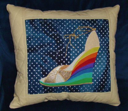 over the rainbow shoe applique