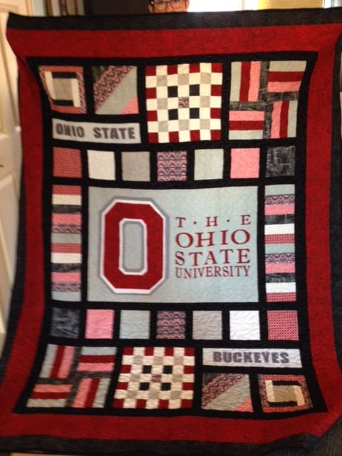 Team Spirit Quilt Applique DIYOhio State