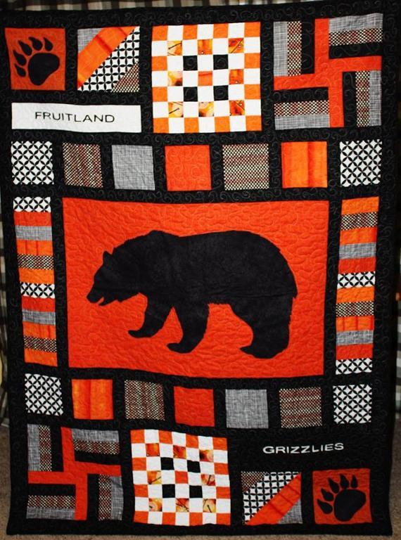 Team Spirit Quilt Applique DIY Grizzlies
